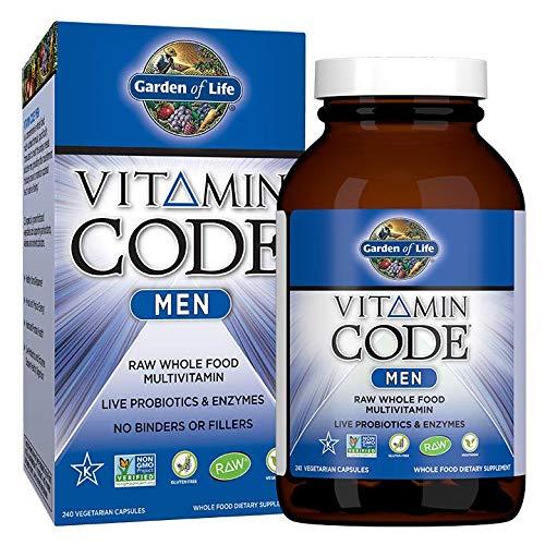 Garden of Life Multivitamin for Men - Vitamin Code Men's Raw Whole Food Vitamin...