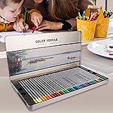 Oreilet Lápices de mapas, lápices de Colores de 72 Colores, para Adultos Que dibujan niños