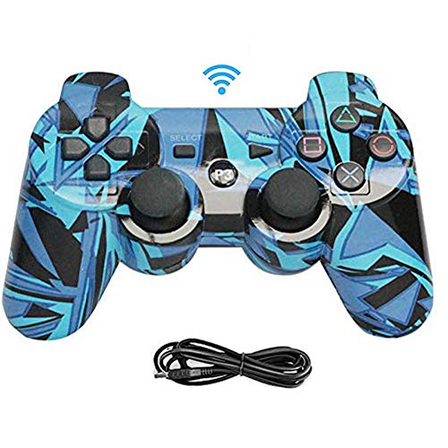 YYKJ PS3 Camouflage Controller, Dual Vibration, Comfortable Handle, Wireless Bluetooth Gamepad for Playstation 3, Compatible with PS3 and PC Windows 7/8/9/10 Remote Gamepad 1