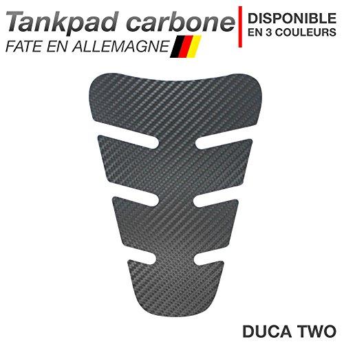 Motoking Tankpad Carbone DUCA-Two - réservoir de la Moto et de la Protection de la Peinture, Universel - Disponible en 3 Couleurs - Anthracite