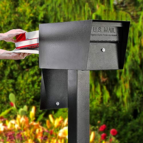 Mail Boss 7536 Street Safe Latitude Security Locking Double Door Mailbox, Black