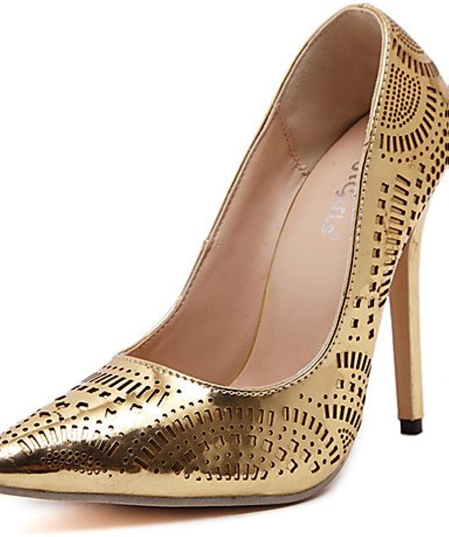 GGX  Damen-High Heels-Kleid   Party & Festivitt-Kunstleder-Stckelabsatz-Abstze   Spitzschuh-Silber   Gold
