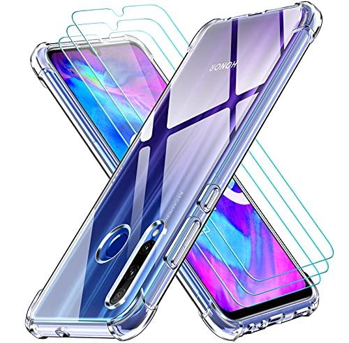 iVoler Cover per Huawei P Smart Plus 2019 / Honor 20e / Honor 20 Lite, Antiurto Custodia con Paraurti in TPU Morbido e 3 Pezzi Pellicola Vetro Temperato, Sottile Trasparente Silicone Protettiva Case