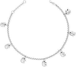Bracelet or Necklace Lex /& Lu 10k White Gold .8mm Spiga Chain Anklet