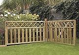 Steccato in Legno Impregnato 180 x 90 h. cm - Pannello Modello NAIROBI - Staccionata per R...