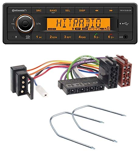 caraudio24 Continental TR7412UB-OR MP3 Bluetooth AUX USB Autoradio für Mercedes E-Klasse W124 S-Klasse W126