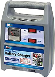 For 6/12V Car, Motorcycle, Motorhome, Van, Marine and Lawnmower lead free batteries. Rated output: 8 amp, Voltage rating input: 230V ~ 50Hz. Charge rate gauge, complete with 13Amp plug and crocodile clips. CE approved. Double insulated, Thermal overl...