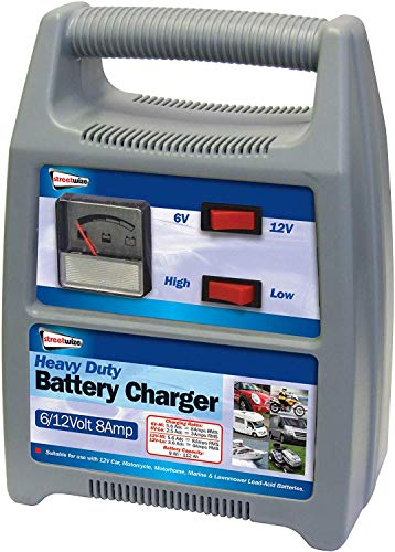 Streetwize Automatic Battery Charger - 6/12V, Car, Motorcycle, Lawnmower (8...