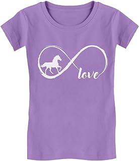 Tstars - Gift for Horse Lover Infinite Love Girls' Fitted Kids T-Shirt