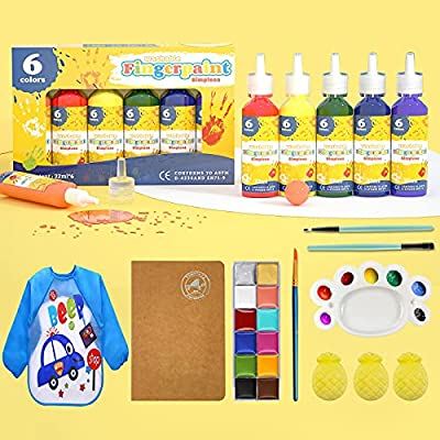 Amazon - 40% Off on 12 Washable Kids Finger Paints, Non-toxic Finger Painting for Toddlers and Bath Bombs