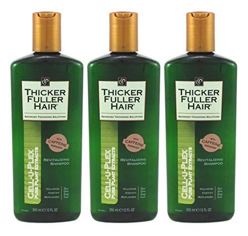 Thicker Fuller Hair Shampoo Revitalizing 12 Ounce (355ml) (Pack of 3)