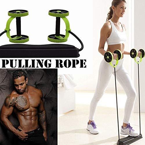 FGHSD Abdominale Power Roll AB Trainer Taille Afslanken Oefening Core Dubbele Wiel Spier Fitness