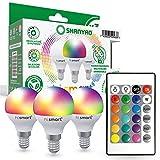 Shanyao - Bombillas Colores RGBW LED Bombilla Cambio de Color - RGB 16 Colore - Control remoto Incluido (G45 Esférica E14, Multicolor RGB)