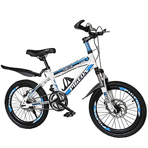 Axdwfd Kids Bike 20Inch Shock-absorbing Bicycle, Suitable For 7-14 Years Old Boys And Girls, Variable Speed Bicycles, 2 Colors Bicycle(Size:20in,Color:Blue)