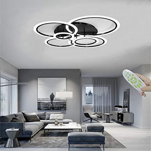FBFC LED Ceiling Light, 72W LED Ceiling Lamp, 6 Rings Lighting...