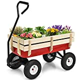 Best Kids Wagons - Giantex All Terrain Cargo Wagon Wood Railing Kids Review