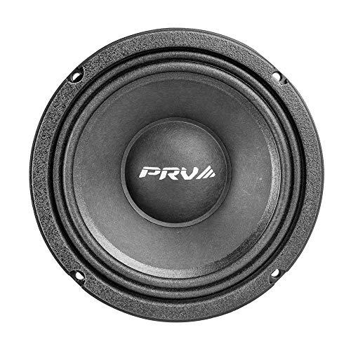 PRV AUDIO 6MR500-NDY-4ohm 6.5 Inch Midrange Speaker Neodymium, 250W RMS Power, 500W Program Power, 4 Ohms, 96 dB, Mid Range 6.5  Pro Audio Speakers for Car Audio, Home and Studio (Single)