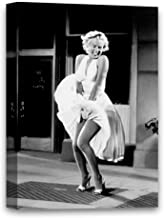 Funny Ugly Christmas Sweater Subway Dress Marilyn Monroe The 7 Year Itch Framed Art Canvas Hollywood Movie Scene Monroe Po...