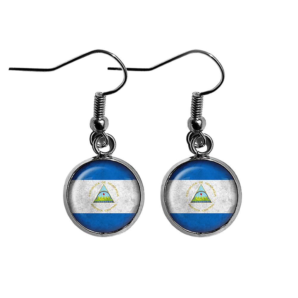 Max 42% OFF Republic of Nicaragua Nicaraguan Flag Surgical Steel Earrings Special price