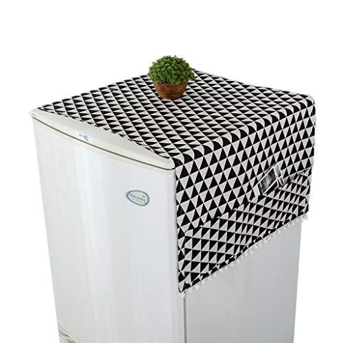 YU-HELLO Cubierta del polvo de la lavadora del hogar cubierta del secador de la cubierta de la cocina del refrigerador a prueba de polvo Cubiertas con bolsa de almacenamiento Accesorios