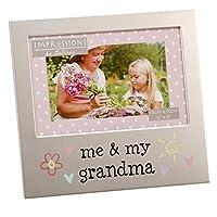 Oaktree Gifts Me & My Grandma Aluminium Photo Frame 4 x 6 [並行輸入品]