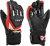 Leki Race Coach C-Tech S Guantes Junior (Negro/Rojo), todas las estaciones, unisex, color multicolor, tamaño 6