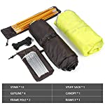 Bessport Camping Tent 1 and 2 Person Lightweight Backpacking Tent Waterproof Two Doors Easy Setup Tent for Outdoor… 8