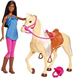 Barbie Doll, Brunette, and Horse, Gift for 3 to 7 Year Olds