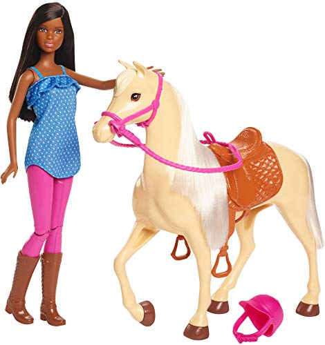 Barbie Doll, Brunette, and Horse