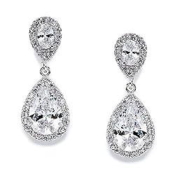 powerful Mariel Dainty Zirconia Crystal Teardrop Earrings For Bride, Wedding Jewelery, Wedding Jewelery …