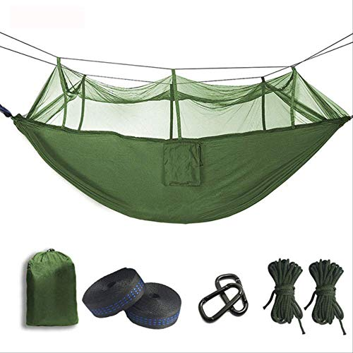 Générique Hamac de Parachute de moustiquaire Ultra-léger avec piqûres Anti-moustiques pour Tente de Camping en Plein air à l'aide de Couchage Livraison Gratuite Vert