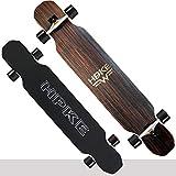 FUFU Patinetes Skateboard Completo 46 Pulgadas Longboard de Arce Drop Through Complete Paseo Libre Crucero Básico...