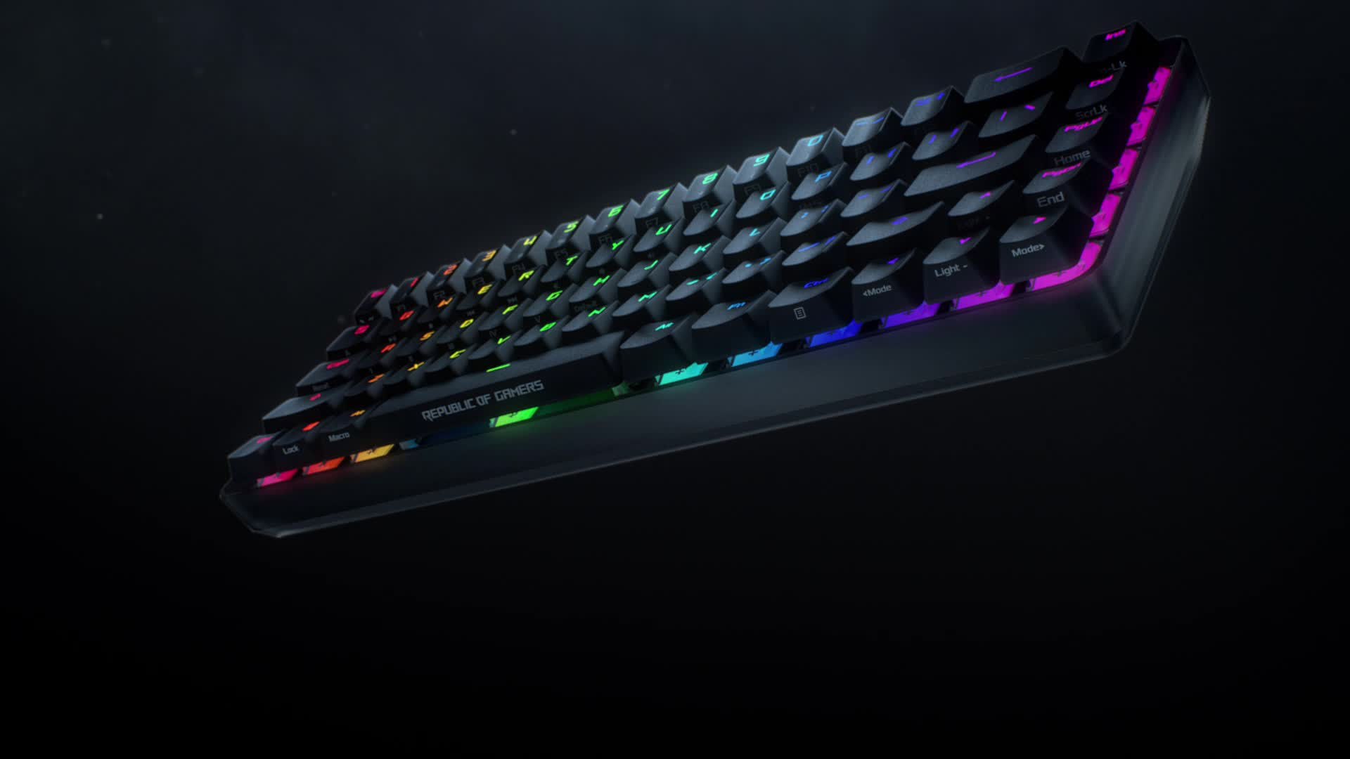 ASUS ROG Falchion Wireless 65% Mechanical Gaming Keyboard (68 Keys, Aura Sync RGB, Extended Battery Life, Interactive Touch Panel, PBT Keycaps, Cherry MX Red Switches, Keyboard Cover Case)