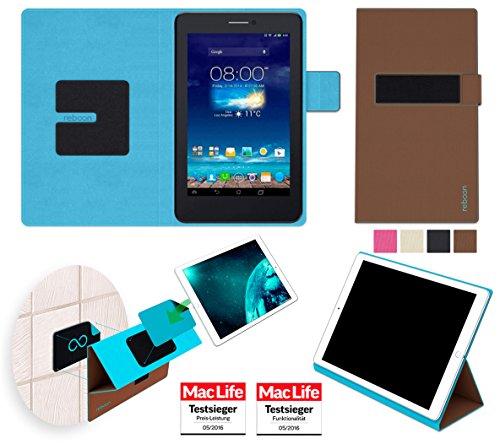 Hülle für Asus FonePad 7 Dual FE175CG Tasche Cover Hülle Bumper | in Braun | Testsieger