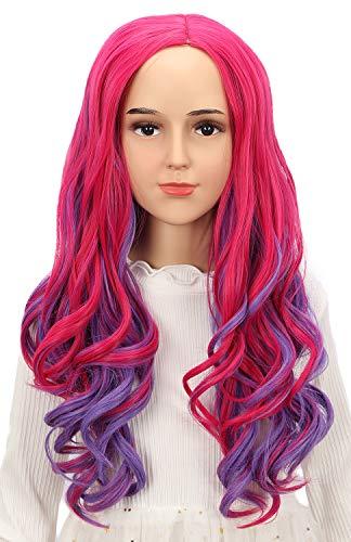 Karlery Kids Girls Audrey Wig Long Wave Pink and...