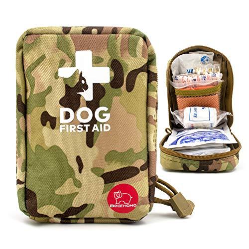 Kit de primeros auxilios para mascotas, kit de primeros auxilios de emergencia para viajes, incluye 72 piezas de alta calidad.