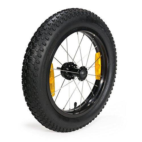 Burley Unisex– Erwachsene Laufrad-3091981300 Laufrad, Schwarz/Silber, One Size