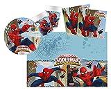 Procos 10108558B - Set de fiesta infantil Marvel Ultimate Spiderman, Web Warriors, platos, tazas, servilletas, decoraciones de mesa, fiestas de cumpleaños infantiles, barbacoas, fiestas temáticas