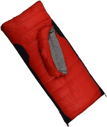 ZWYY Durable,Breathable,comfortableSac de Couchage, enveloppe Chaude Sommeil Sac 4 Saisons légers Sacs de Sommeil Compact imperméable à l'eau de Camping en Plein air Pad,rouge,400g