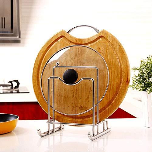 Tapa Para Olla Y Rejillas Mueble de cocina de la tapa del soporte del pote tapa de la caja de almacenamiento en rack Tabla de cortar rack rack de almacenamiento del gabinete de cocina Para La Organiza