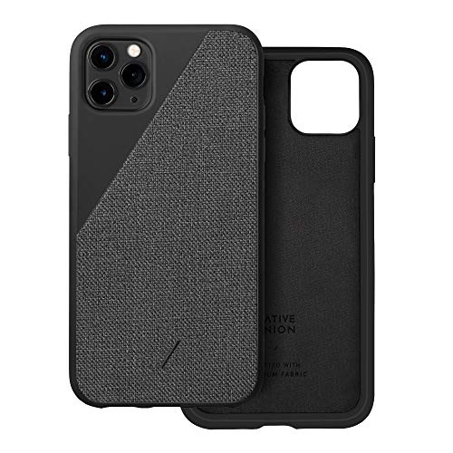 Native Union Funda de Lona Clic para iPhone 11 Pro MAX - Funda Premium de Tela Tejida – Compatible con iPhone 11 Pro MAX (Negro)