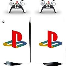 Capa de vinil protetora de corpo inteiro para Sony PS5 PlayStation 5 Console Wrap Sticker Skins com dois decalques de cont...