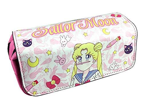 Sailor Moon Pen Bag Anime Cartoon Pencil Case Stationery Bags School Pens Bags School Supplies Girls