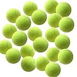 High Living ® Lot de 12 balles de tennis pour chien - Jaune