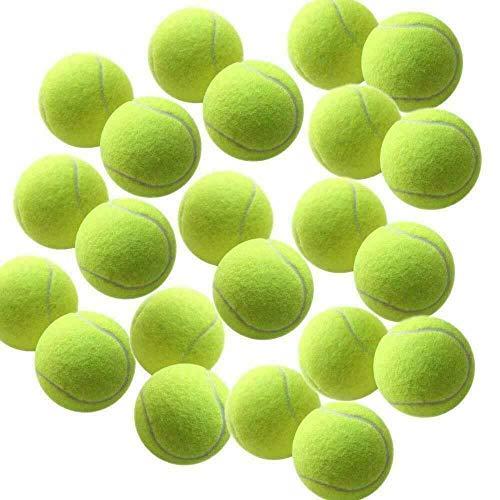 High Living®, palline da tennis per cani, confezione da 12 pezzi, colore giallo