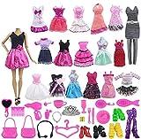 ZITA ELEMENT 55 PCS= 5 Kleider Freizeitkleidung Outfits + 50 Accessories Verschiedenes Zubehör für 11,5 Zoll Mädchen Puppe iedenes Zubehör für 11,5 Zoll Mädchen Puppe -