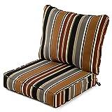 Greendale Home Fashions AZ7820-BRICK Espresso Outdoor 2-Piece Deep Seat Cushion Set