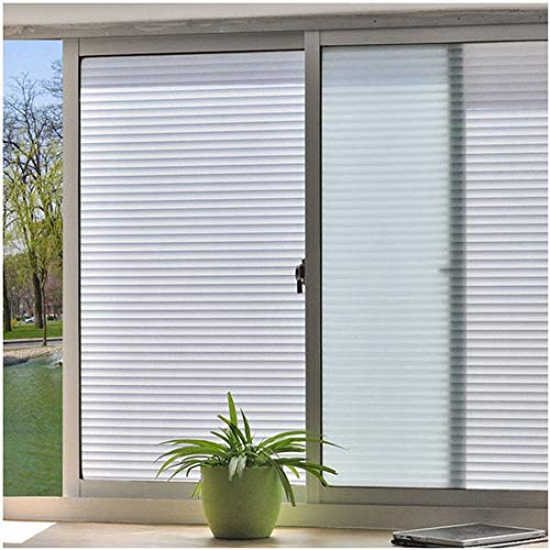 LMKJ Película de Ventana autoadhesiva de Vidrio Opaco Esmerilado privacidad Vidrio Blanco hogar baño balcón Dormitorio película A87 60x100cm