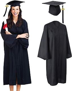 Hongfago Akademicki kapelusz lekarski i frędzle, na zakończenie szkoły, jako dekoracja na uniwersytet w uczelni, czarny, u...
