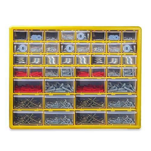 44 Schubladen Werkzeugschrank | Garage, Schuppen und Heimorganisator mit mehreren Schubladen | Werkzeugkasten mit kleinen / großen Schubladen | Pukkr